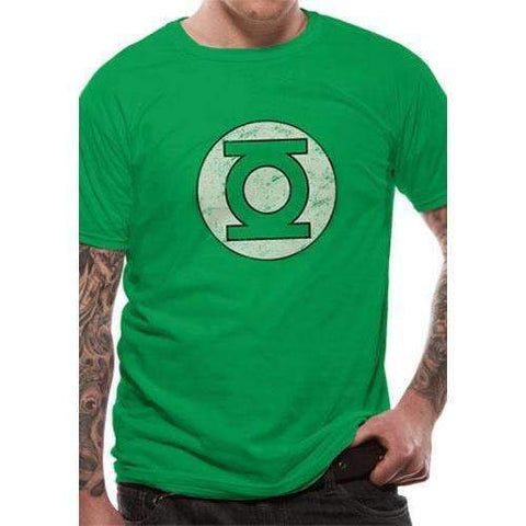 "T-Shirt Unisexe - Green Lantern ""Logo délavé""-Very Bad Geek"