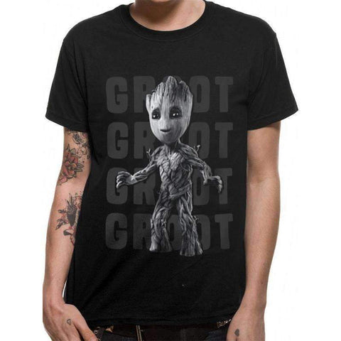 "T-Shirt Unisexe - Les Gardiens de la Galaxie ""Baby Groot"" noir-Very Bad Geek"