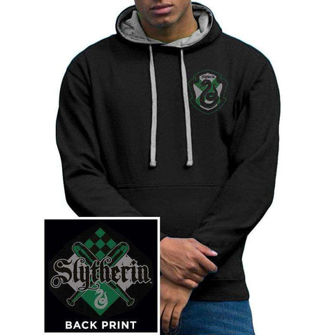 "Hoodie Homme - Harry Potter ""Serpentard"" noir"