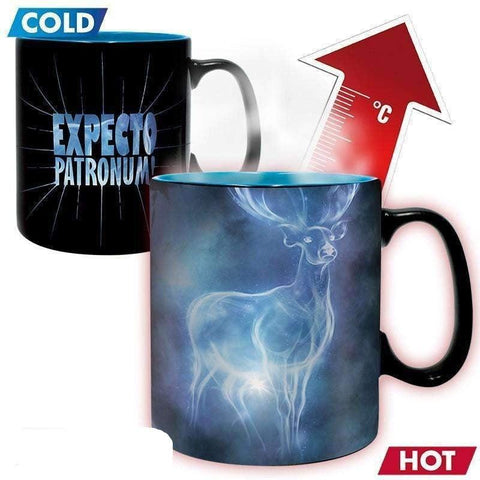 "Grand mug Thermo-Réactif Harry Potter ""Patronus"" 460ml-Very Bad Geek"