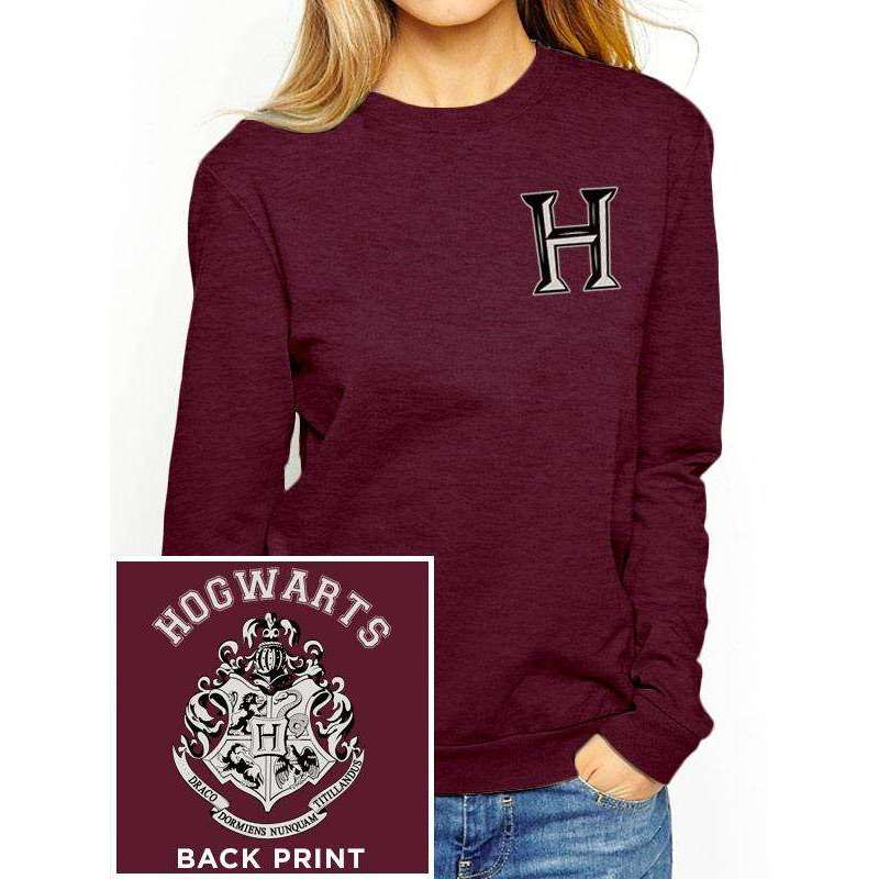 nos produits et cadeaux sweat shirt femme harry potter poudlard rouge very bad geek. Black Bedroom Furniture Sets. Home Design Ideas