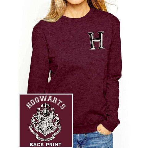 "Sweat-Shirt Femme - Harry Potter ""Poudlard"" rouge"