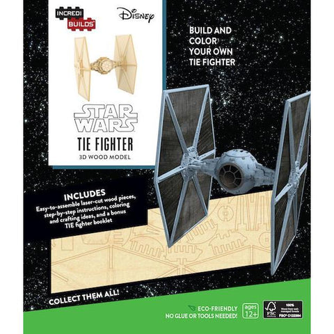 Maquette Bois Star Wars - Tie Fighter IncrediBuilds-Very Bad Geek