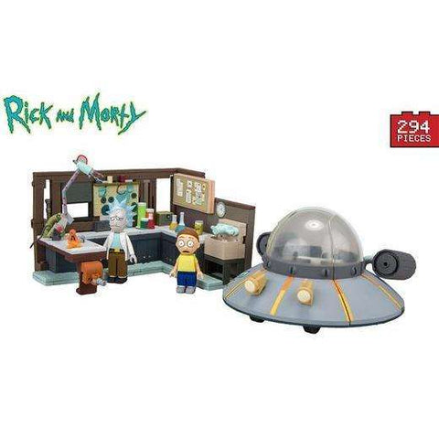 Jeu de Construction Rick and Morty - Garage et Vaisseau Spatial