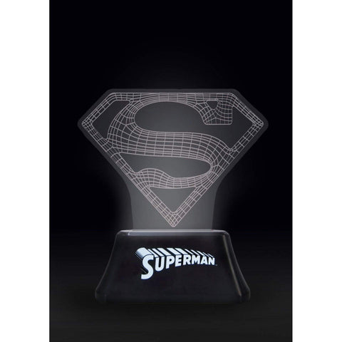 Lampe DC Superman Emblème Wireframe 7 couleurs-Very Bad Geek