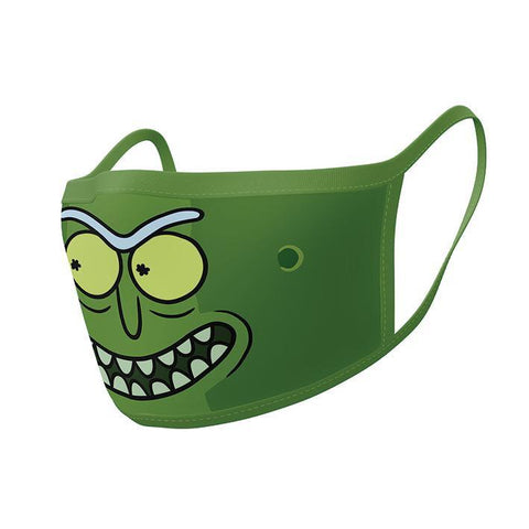 Masques Rick and Morty Pickle Rick en tissu lavable - Lot de 2-Very Bad Geek