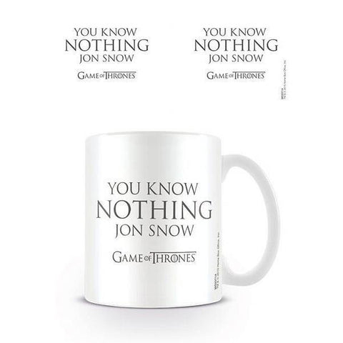 "Mug Game Of Thrones ""You Know Nothing Jon Snow"""