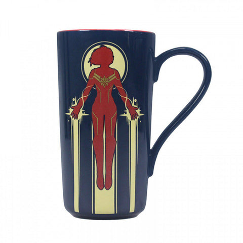 Grand mug à latte Captain Marvel