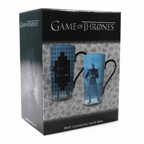 "Game of Thrones - Grand Mug à Latte Thermo-Réactif ""Winter is Coming"""