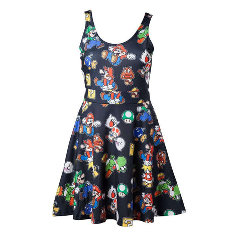 "Robe Nintendo ""Icônes et Personnages"" noire-Very Bad Geek"