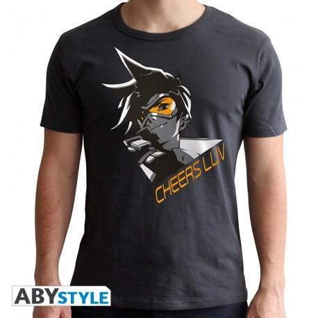 "T-Shirt Homme - Overwatch, Tracer ""Cheers Luv"""