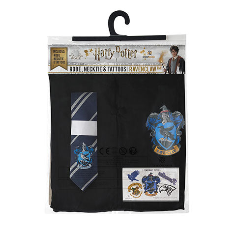 Pack déguisement Serdaigle : robe + cravate + 5 tatouages - Harry Potter-Very Bad Geek