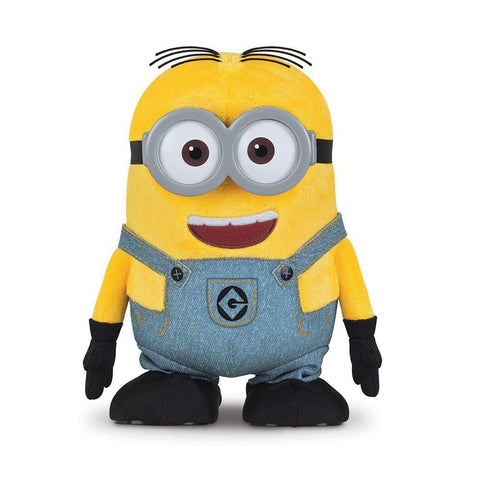 "Peluche Minion ""Walk and Talk Dave"" mobile et parlante"