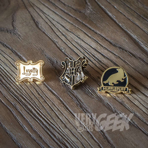 Pin's Harry Potter x3 - Poufsouffle-Very Bad Geek