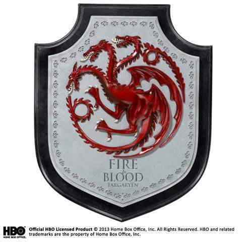 "Plaque Murale ""Blason de la Maison Targaryen"" - Game of Thrones"