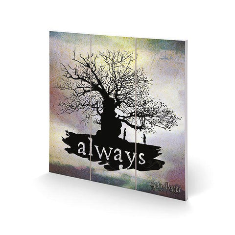 "Poster sur bois ""Always"" 30x30cm - Harry Potter-Very Bad Geek"