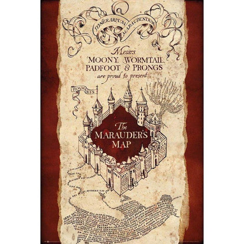 Maxi poster ''Carte du Maraudeur'' 61x91,5 - Harry Potter