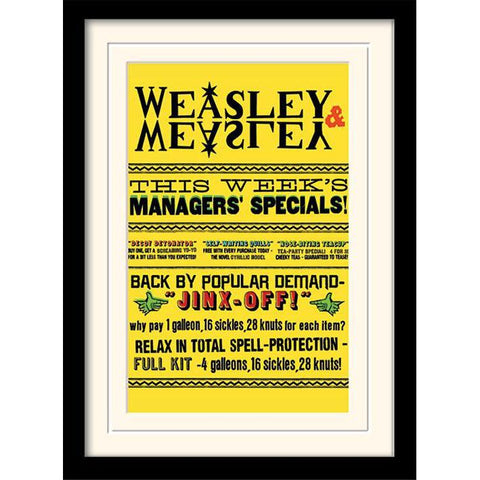 Poster encadré - Weasley and Weasley 30x40cm - Harry Potter