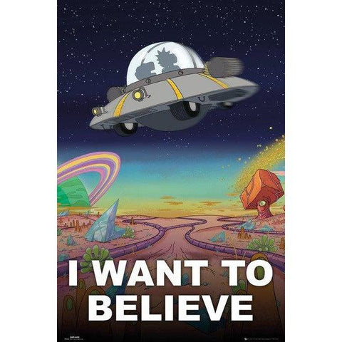 Maxi poster Rick and Morty 61x91,5 - I Want To Believe