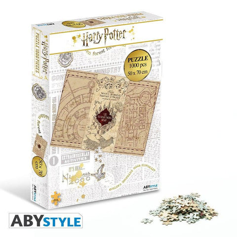 Puzzle Carte du Maraudeur 1000 pièces - Harry Potter