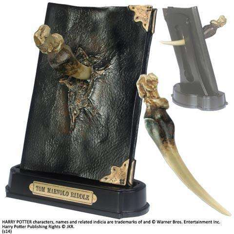 "Réplique Journal de Tom Jedusor et dent de Basilic ""Horcruxe"" - Harry Potter-Very Bad Geek"