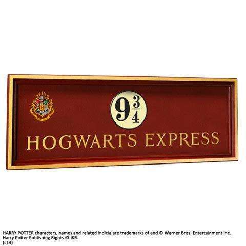 Réplique Harry Potter - Plaque Voie 9 3/4 Poudlard Express-Very Bad Geek