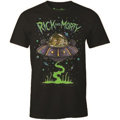 "T-Shirt Unisexe - Rick and Morty ""Soucoupe"""
