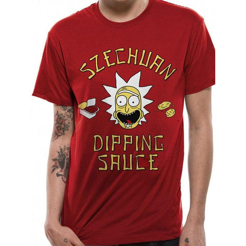 "T-Shirt Unisexe - Rick and Morty ""Szechuan Dipping Sauce""-Very Bad Geek"