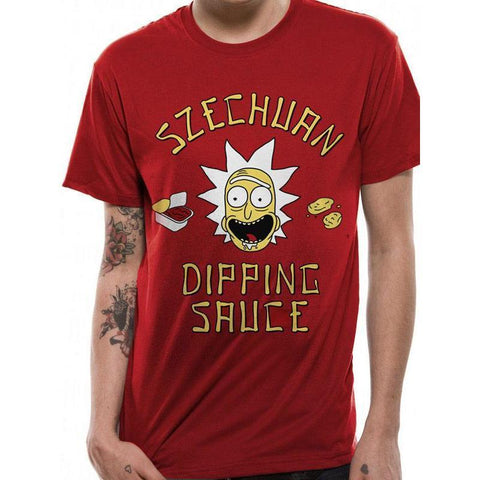 "T-Shirt Unisexe - Rick and Morty ""Szechuan Dipping Sauce"""