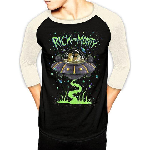 "T-Shirt Homme Baseball - Rick and Morty ""Spaceship"""