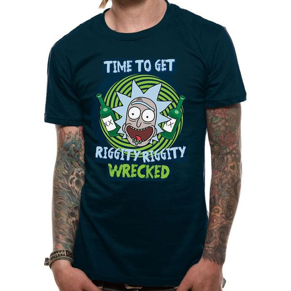 "T-Shirt Unisexe - Rick and Morty ""RIGGITY RIGGITY WRECKED"""