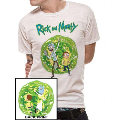 "T-Shirt Unisexe - Rick and Morty ""Portal"" face et dos-Very Bad Geek"
