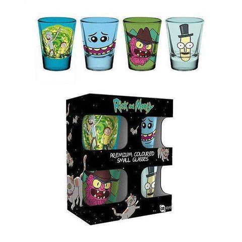 Verres Shooters Rick and Morty - Meeseeks, Scary Terry, Poopybutthole