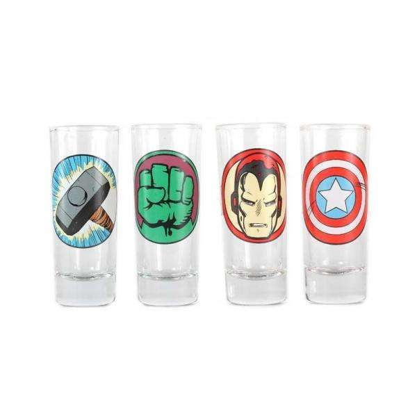 Verres Shooters Marvel x4 -