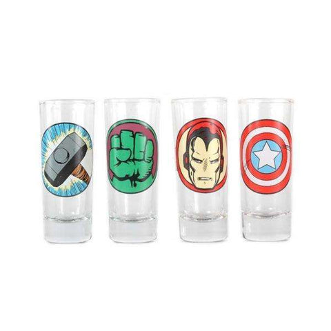 "Verres Shooters Marvel x4 - ""Personnages"""