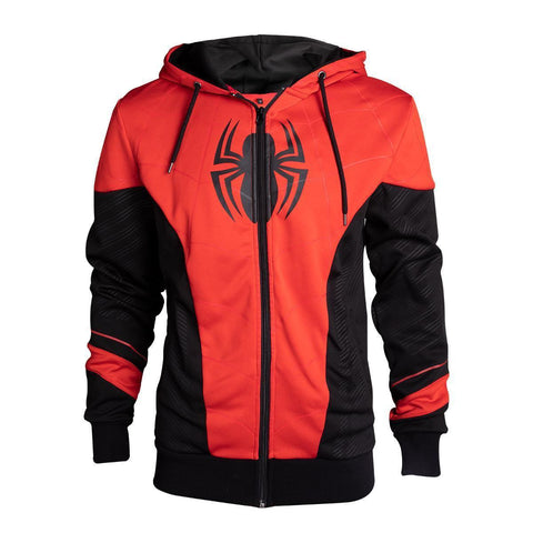 Veste à capuche Spider-Man - rouge et noir-Very Bad Geek