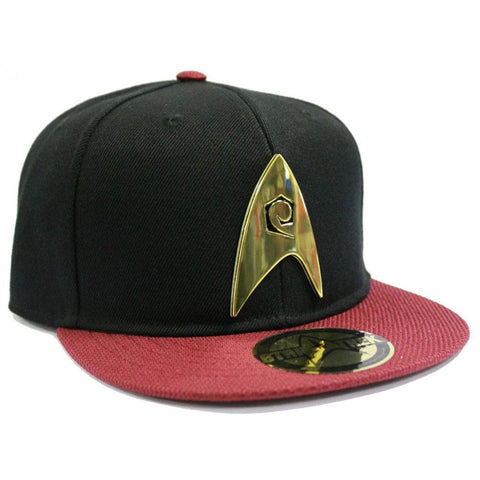 "Casquette Snapback Star Trek ""Scott"" badge métal"