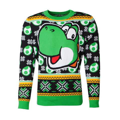 "Pull de Noël - Super Mario ""Yoshi""-Very Bad Geek"