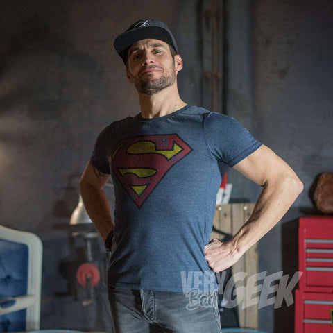 "T-Shirt Superman unisexe ""Grunge"" - DC Comics-Very Bad Geek"