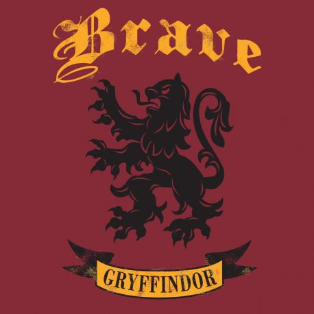 "T-shirt femme ""Brave"" Gryffondor - Harry Potter-Very Bad Geek"