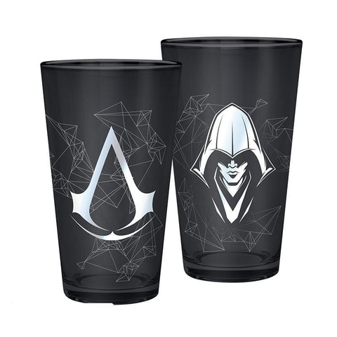 Verre Assassin's Creed argenté