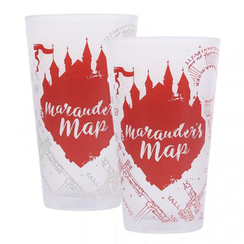 Verre Harry Potter thermo-réactif 45cl - Carte du Maraudeur
