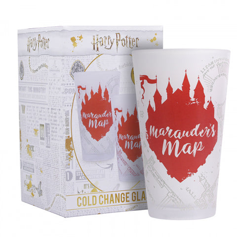 Verre Harry Potter thermo-réactif 45cl - Carte du Maraudeur-Very Bad Geek