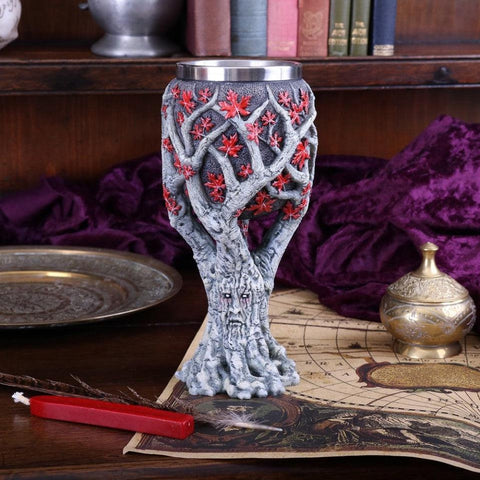 "Verre à vin Game of Thrones artisanal ""Weirwood Tree"" - Sculpture Collector"