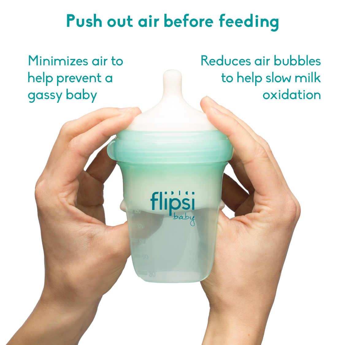 Flipsi Silicone Colic Reducing Baby Bottle