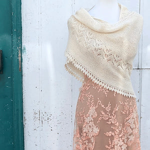 Seacote Shawl by Paulina Popiolek is part of our Fibre Co Foundations trunk show