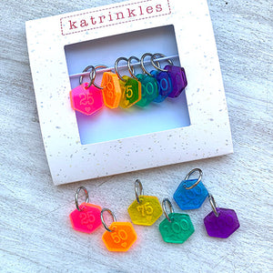 Rainbow Acrylic Number set
