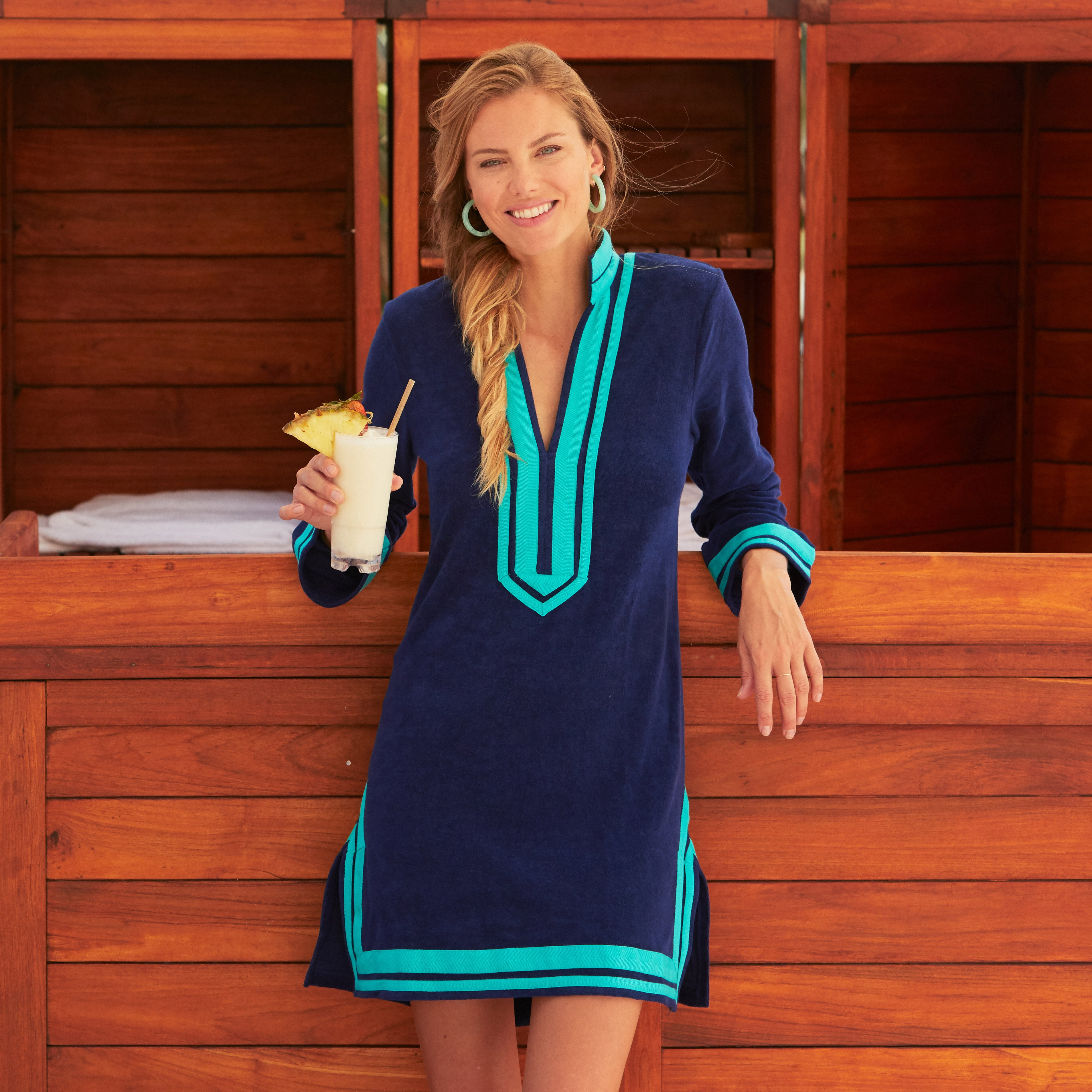 Teal Terry Tunic