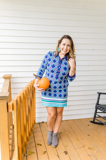 Patricia Maristch wearing the Hampshire Button Down Dress with UPF 50+