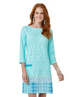 Woman wearing Coastal Cottage Cabana Shift Dress